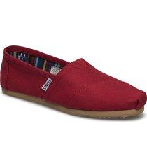 red canvas sandaletter expadrilles låga röd toms