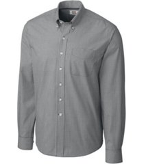 cutter & buck men's long sleeve gingham shirt