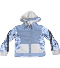 kinderkind toddler boys tie dye zip-up hoodie jacket
