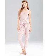 undercover tank pajamas, women's, black, size l, josie natori