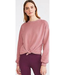 lou & grey toasty terry tie front top
