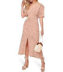 women's astr the label kindred printed midi dress