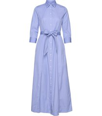 d2. maxi shirt dress jurk knielengte blauw gant