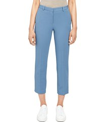knit cropped tailored trousers