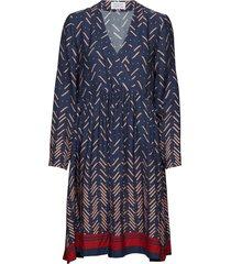 mirror jurk knielengte blauw libertine-libertine