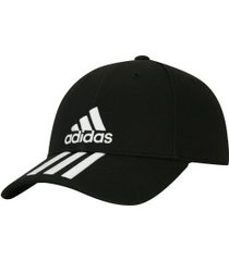 boné aba curva adidas essentials 3s cotton - strapback - adulto - preto/branco