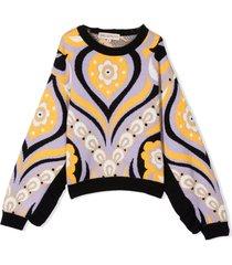 emilio pucci floral print sweater