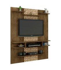 painel sigma p/ tv até 55 pol madeira rústica móveis bechara marrom