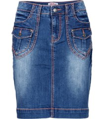 gonna di jeans elasticizzata authentic (blu) - john baner jeanswear