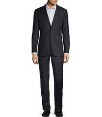 classic fit tonal check wool suit