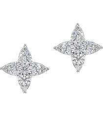 diana m jewels women's 14k white gold & 0.50 tcw diamond stud earrings
