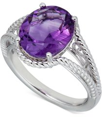 amethyst oval swirl ring (4 ct. t.w.) in sterling silver (also in blue topaz & green amethyst)