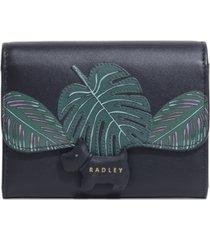 radley london radley crest medium leather flapover wallet
