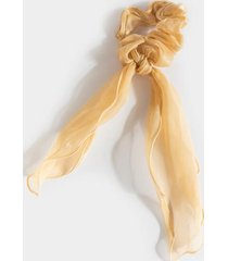leeanne shimmer organza pony scarf - taupe