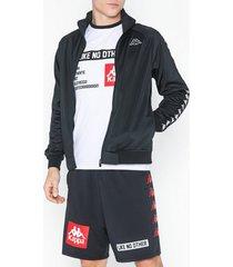 kappa track jacket anniston banda tröjor svart/vit