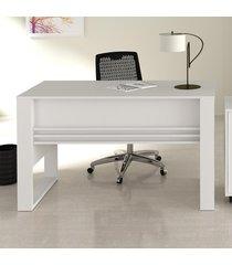 mesa para escritório me4146 branco - tecno mobili