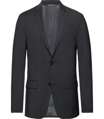 modern textured suit blazer colbert grijs calvin klein