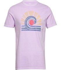 graphic pocket t-shirt t-shirts short-sleeved lila gap