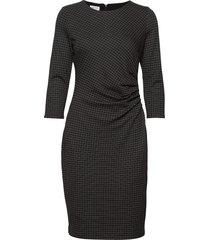 dress knitted fabric knälång klänning svart gerry weber