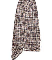 lanvin brown virgin wool blend skirt