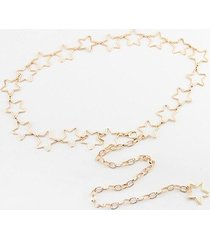 hollow out stars decorative waist chain