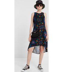 galactic print dress - black - 46