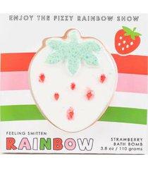 feeling smitten rainbow strawberry bath bomb