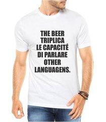 camiseta criativa urbana the beer triplica cerveja masculina