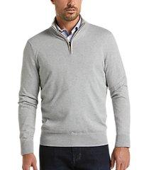 joseph abboud gray modern fit 1/4 zip sweater