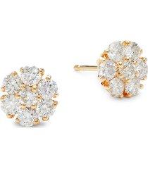 diana m jewels 14k yellow gold & 1.60 tcw diamond stud earrings