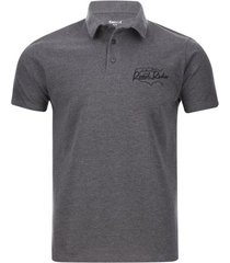 polo hombre road rider color gris, talla s