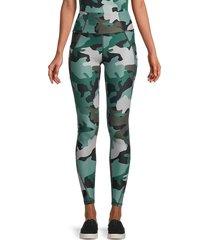 jessica simpson women's high-waist camo-print leggings - abyss cloud - size s