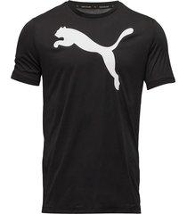 active big logo tee t-shirts short-sleeved svart puma