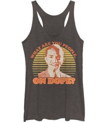 fifth sun fast times at ridgemont mr. hand tri-blend racer back tank