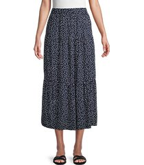 ramona dot-print midi skirt