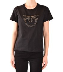 shiny love birds embroidery t-shirt