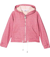 gcds mini pink teen jacket with hood