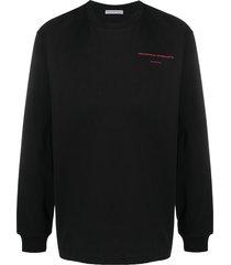 alexander wang graphic print cotton sweatshirt - black
