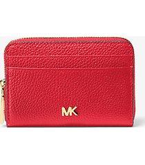 mk portafoglio piccolo in pelle martellata - rosso brillante (rosso) - michael kors