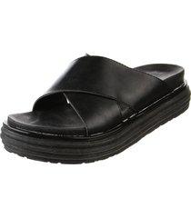 sandalia negra somos prana  cruzadas