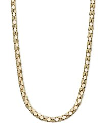 "14k gold necklace, 16"" diamond cut popcorn chain (1-5/8mm)"