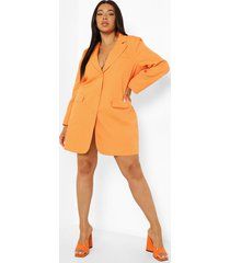 plus oversized blazer jurk, orange