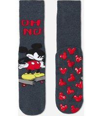 calzedonia disney pattern non-slip cotton socks man blue size tu