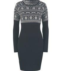 abito in maglia jacquard (nero) - bpc bonprix collection