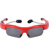 audífonos inalámbricos, sport riding eyes gafas bluetooth manos libres  4.0 stereo headset conducir llame a la música manos libres gafas de sol smart para android ios smartphones y todos los dispositivos (rojo)