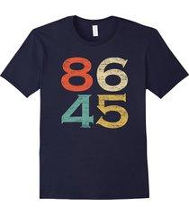 classic vintage style 86 45 anti trump t-shirt men