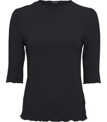 maglia a costine con mezze maniche (nero) - bodyflirt