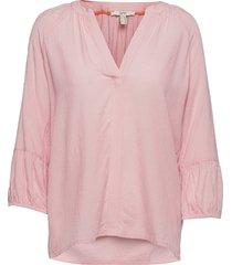 blouses woven blus långärmad rosa esprit casual