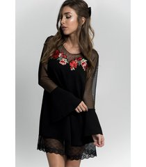 vestido negro florencia casarsa roma dress