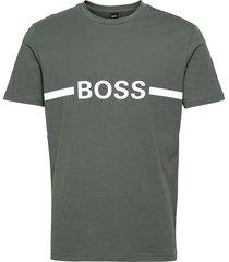 t-shirt rn slim fit t-shirts short-sleeved grön boss